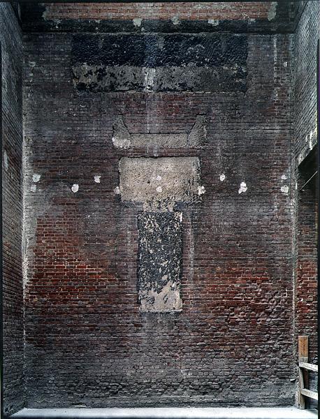 DRESDEN, Brandwand im Lipsius Bau vor Sanierung, 2000