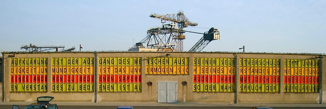 FERROPOLIS, STADT AUS EISEN, WAHLSPRUCH DER AUFKLÄRUNG, 12.10.2006