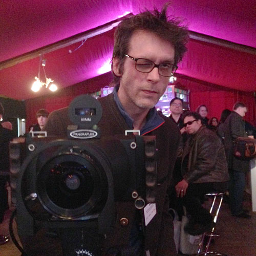 64. BERLINALE, GROPIUS-MIRROR, analog-photographer in action, 08.02.2014