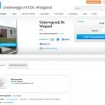 UNTERWEGS MIT DR. WIEGAND, BLURB-BUCH-ANZEIGE UND PREIS