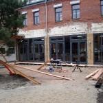 LEIPZIG-PLAGWITZ, Gießerstr. 18, RESTAURANT CHINABRENNER, INNENHOF-SONNEDECK, 02.04.2012