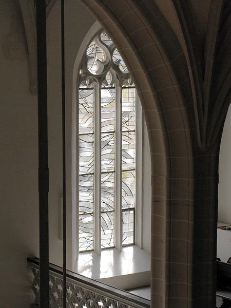 Südseite Langhaus, gotisches Maszwerkfenster, looking south-west, 17.07.2014