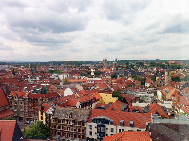 ERFURT, Juri-Gagarin-Radisson-Blu, looking west (DOM behind), i-PHONEOGRAPHY, versicolor@29.05.2015
