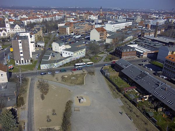 LEIPZIG, GleisGrünZug, Anbindung ferig, 13.03.2014