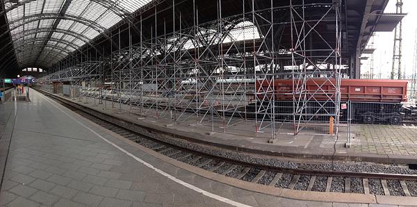 LEIPZIG, Hauptbahnhof, Bstg.17, i-PANORAMA, looking south-west, 04.05.2014