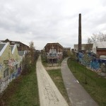 LEIPZIG-PLAGWITZ, GLEISWEG, ANS.n.OST, 02.04.2012