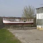 """LEIPZIG, """"MS WELTFRIEDEN"""", WINTERLIEGEPLATZ, FRISCH GESTRICHEN, SAISON 2012, 03.04.2012"""