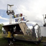 Melt! Festival at Ferropolis, THE-ELECTRIC-HOTEL, ORIGINAL AIRSTREAM TRADEWIND TRAILER BUILT IN 1960, 14.07.2012