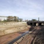 LEIPZIG, Lindenauer Hafen, KANAL-ANSCHLUSS, looking south, 18.10.2014