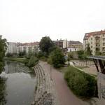 LEIPZIG-PLAGWITZ, AURELIENBOGEN, LUFTBILD nach NORD, 31.08.2012
