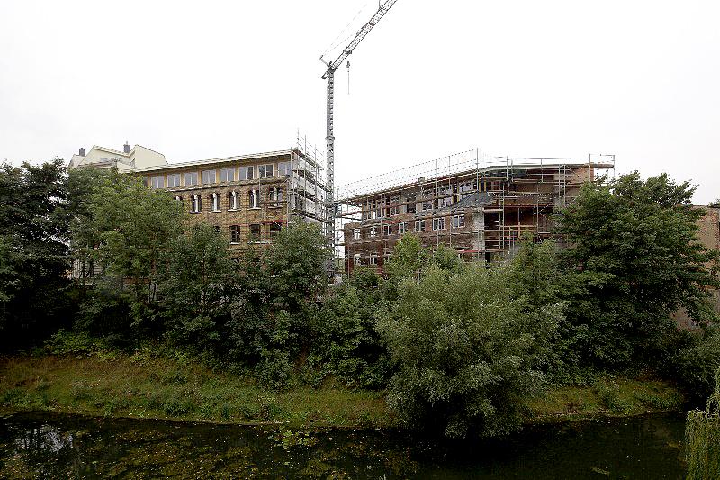 LEIPZIG-PLAGWITZ, AURELIENBOGEN, LUFTBILD nach WEST, 31.08.2012
