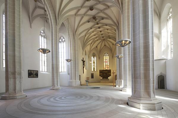 Lutherstadt Eisleben, Taufzentrum, Kirche ohne Gestühl, 07.05.2015