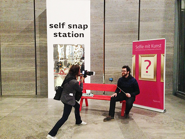 LEIPZIG, MUSEUM, self-snap station, 25.02.2015