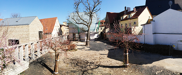 Lutherstadt Eisleben, Lutherarchiv, outside pano-overview, looking north-east-south, i-Phoneography, 15.04.2015