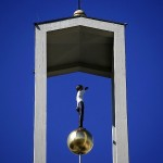 KASSEL 2012, Mann im Turm, Sankt Elisabeth, Stephan Balkenhol, 17.05.2012