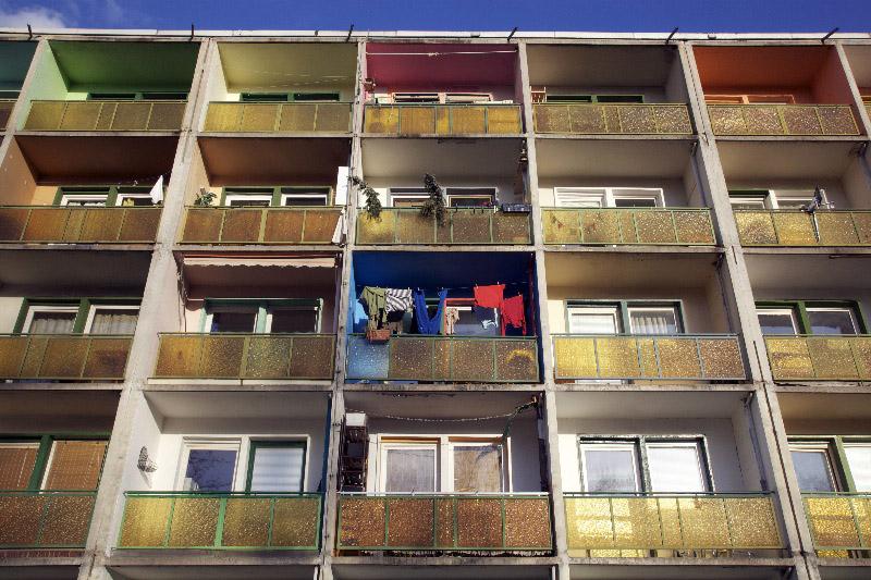 LEIPZIG, WOHNSCHEIBE, KARL-TAUCHNITZ STR, 20.02.2012