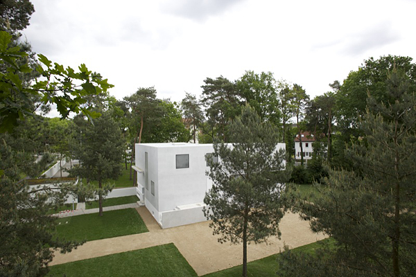 DESSAU, Meisterhaus Gropius, Totale, looking south-east, 10.05.2014