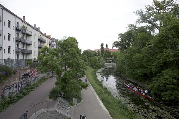 LEIPZIG, Karl-Heine-Kanal, Höhe Gießerstr., loocking east, 23.05.2014
