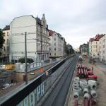 LEIPZIG, LÜTZNER STR, LVB-Stadtbahnlinie 15, looking east, 23.05.2014