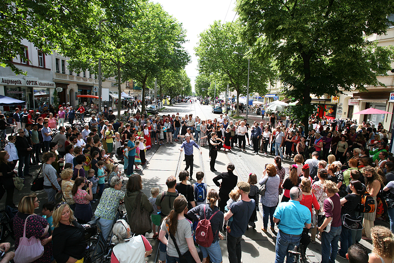 LEIPZIG-PLAGWITZ, bohei & tam tam! Boulevard-Heine-Stadtteilfest, looking west, 18.06.2016