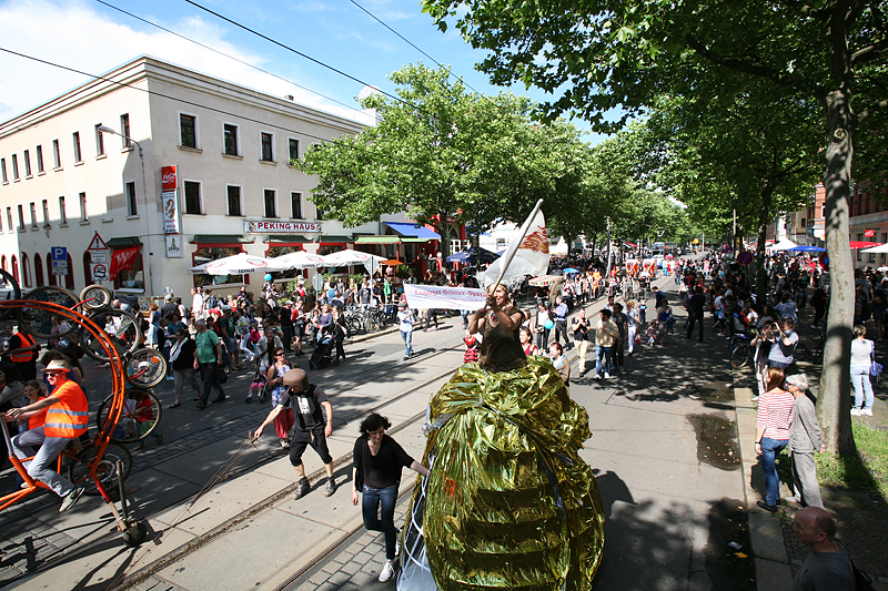 LEIPZIG-PLAGWITZ, bohei & tam tam! Boulevard-Heine-Stadtteilfest, looking south, 18.06.2016