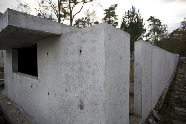 DESSAU, Neue Meisterhäuser, Trinkhalle, Detail, Ansicht nach Westen, 04.12.2012