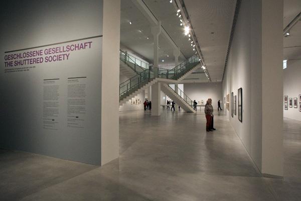 Berlinische Galerie, Eingang zur Ausstellung, 15.12.2012