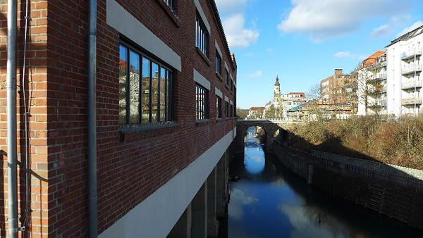 LEIPZIG-PLAGWITZ, Karl-Heine-Kanal, Ans.n.Nord, 06.02.2013