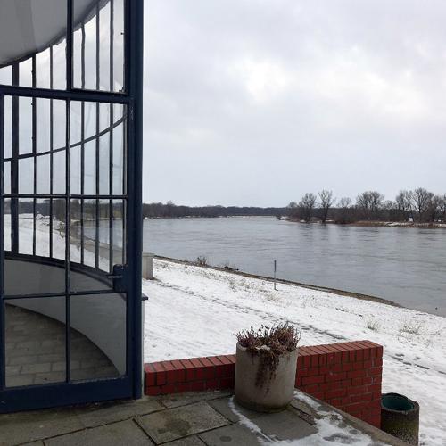 DESSAU, Kornhaus an der Elbe, Detail, Ans. n. West, 20.02.2013