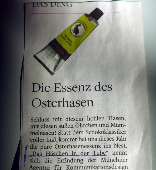 Das Ding, Artikelausriss, 01.04.2013
