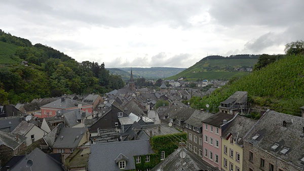TRABEN-TRARBACH, MOSELRAUSCH, view from above, 08.09.2013