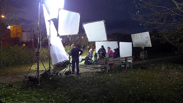 LEIPZIG, FILM-SET, Gerichtsweg/Täubchenweg, 26.10.2013