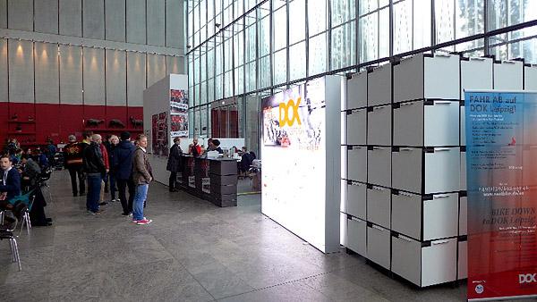 LEIPZIG, DOK LEIPZIG, BLICKFANG, FESTIVAL OFFICE IM MUSEUM, looking east, 29.10.2013