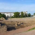 LEIPZIG, PANORAMA, Hafenbecken-Neu, am Wassertorplatz, looking north, 24.05.2014