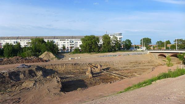 LEIPZIG, PANORAMA, Hafenbecken-Neu, am Wassertorplatz, loocking north, 24.05.2014