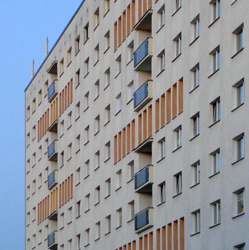 Leipzig Zentrum-Süd, Wohnscheibe Telemannstr., loocking east, 24.05.2014