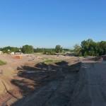 LEIPZIG, PANORAMA, Hafenbecken-Neu, am Wassertorplatz, looking north, 25.05.2014