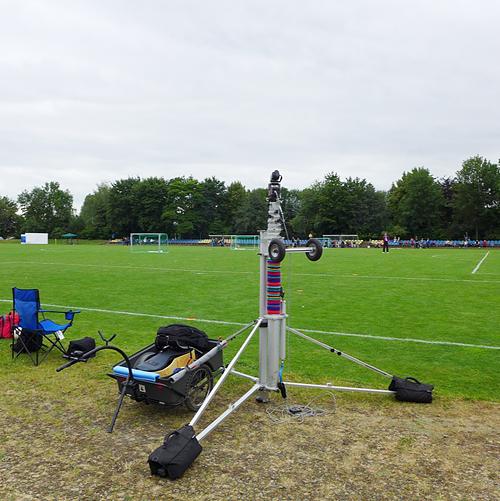 LEIPZIG, Sportschule E.BRAUN, LVV-CUP, Hochstativ im Einsatz, 21.06.2014