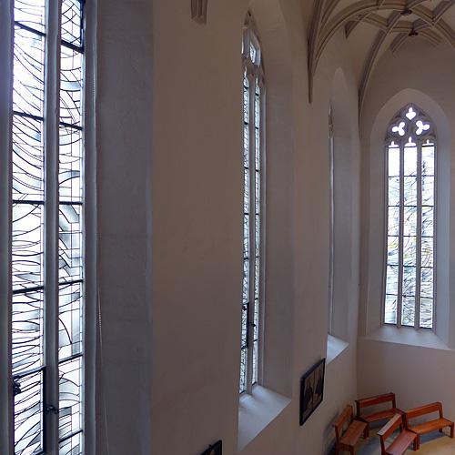 Nordseite Langhaus, gotisches Maszwerkfenster, looking north-east, 31.08.2014