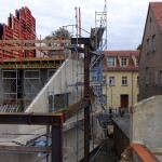 Lutherstadt Eisleben, Lutherarchiv, outside Detail, looking east, 30.08.2014