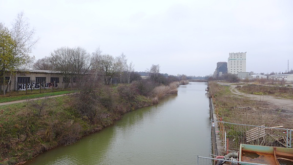 LEIPZIG, PANORAMA, Hafenbecken, looking north, 02.12.2014