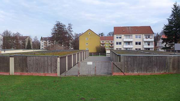 NIEDERSACHSEN-ANHALT: geduldete Modulbauten, looking north-east, 03.01.2015