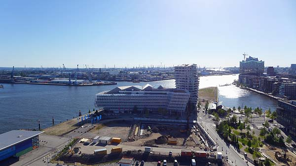HAMBURG, from the top of Steiger Ferries wheel, looking north, 01.07.2015