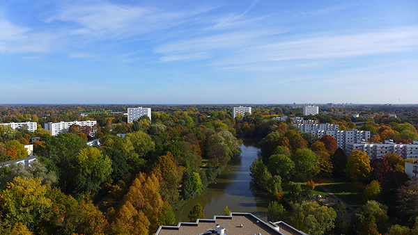 BREMEN-VAHR, goldiger Oktober, Indian Summer, looking south-east, 26.10.2015