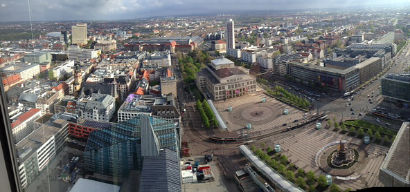 LEIPZIG: iPhone-Panoview auf Augustusplatz, Oper, Bahnhof, etc., 10.04.2014