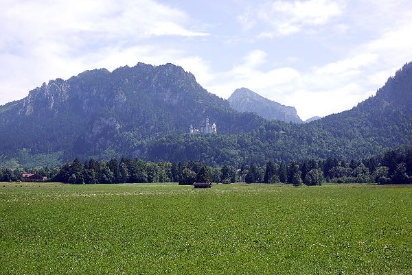 Schloss Neuschwanstein, Totale, looking south, 25.08.2013
