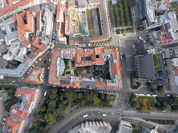 LEIPZIG, Innenstadt, Dittrichring + Thomaskirche, Skyview, 27.09.2013
