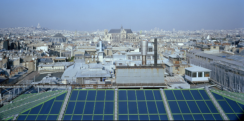 PARIS, from rooftop SAMARITAINE, looking north, 2003