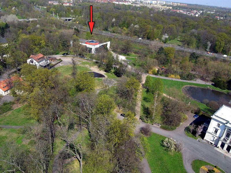 AGRA-PARK, MARKKLEEBERG, bei LEIPZIG, ariel overview, 23.04.2010