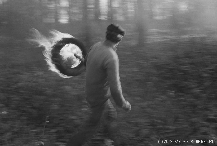 Osterholz, Lighting a fire, 10.11.1989